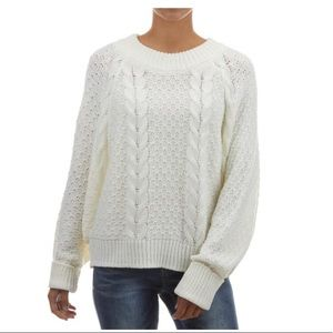 Moon & Maddison Sweater Crew Neck White L New